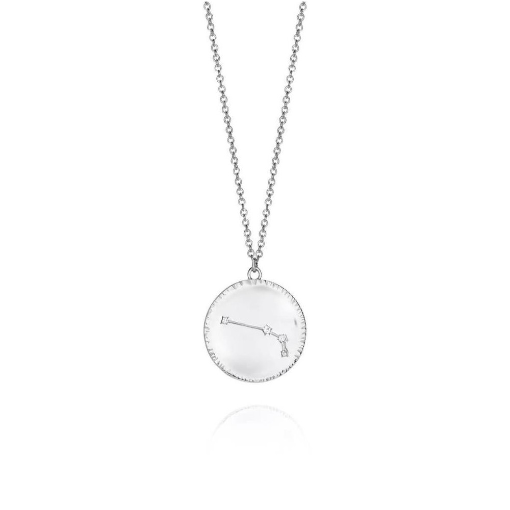 Cadena de plata con horóscopo Aries