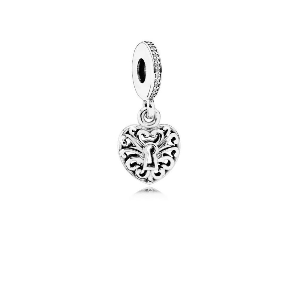 791876CZ - Charm Pandora de plata y...