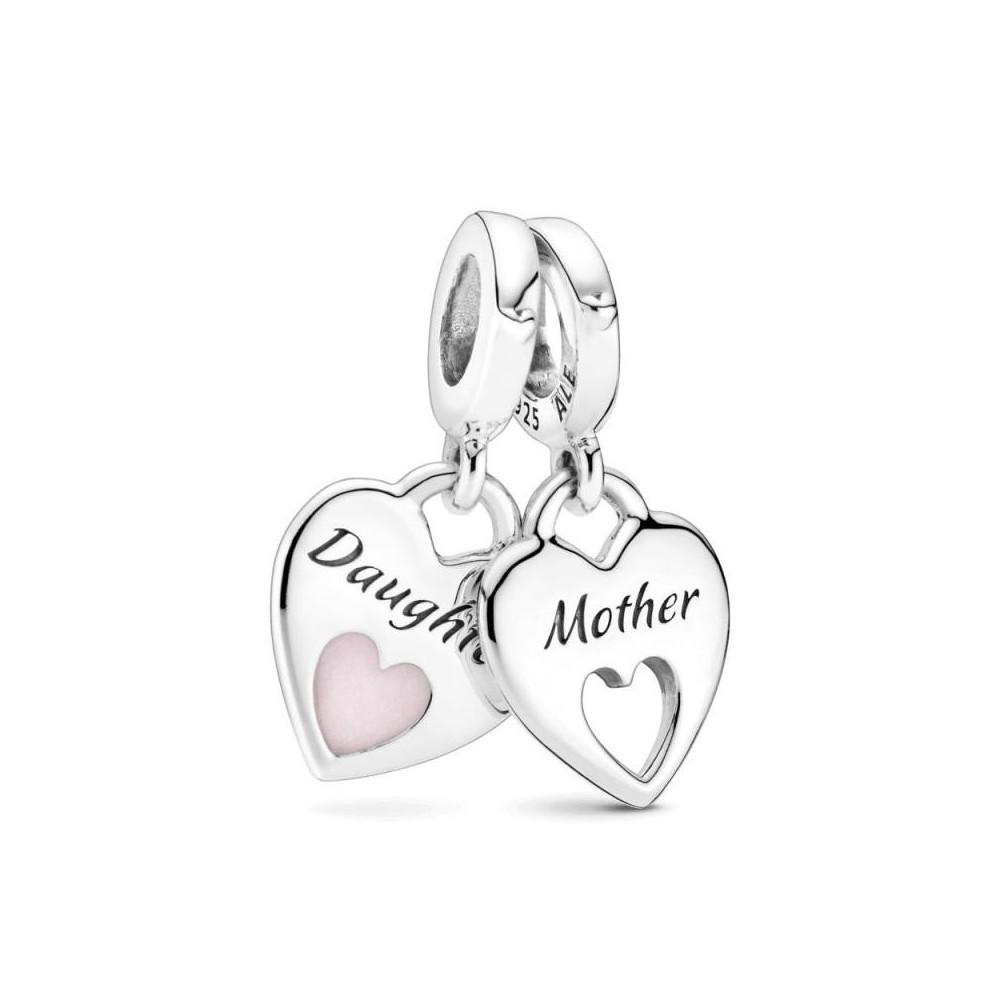 Corazones de Madre e hija colgante...