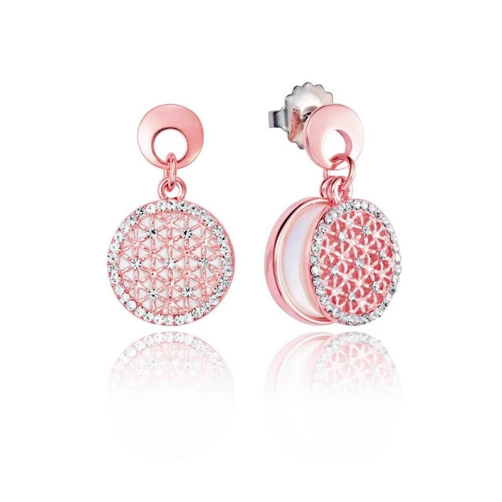 3221E09012 - Pendientes rosados con...