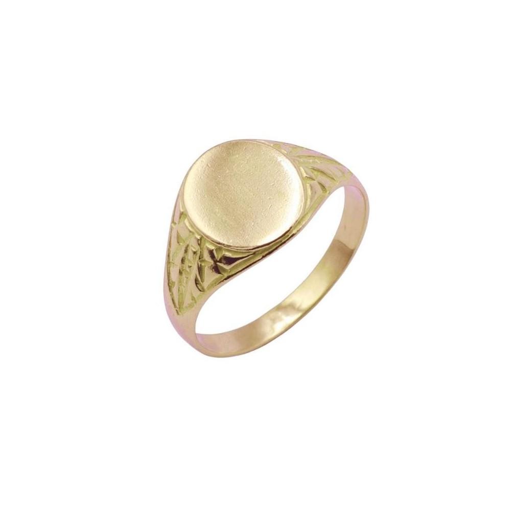 Z-39015 - Sello de oro ovalado de 18k...
