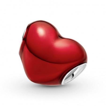 smjoyeros 799291C02 - Charm Corazón Rojo Metálico 1
