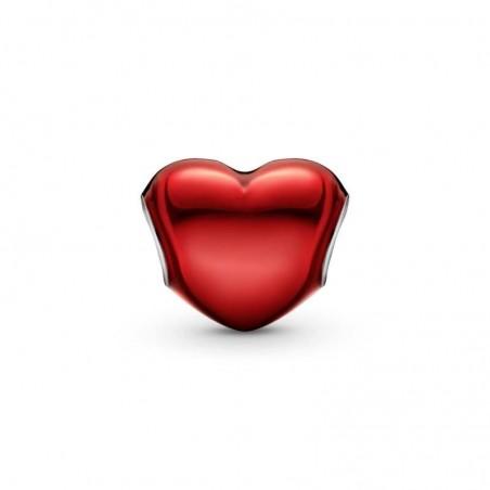 smjoyeros 799291C02 - Charm Corazón Rojo Metálico 2