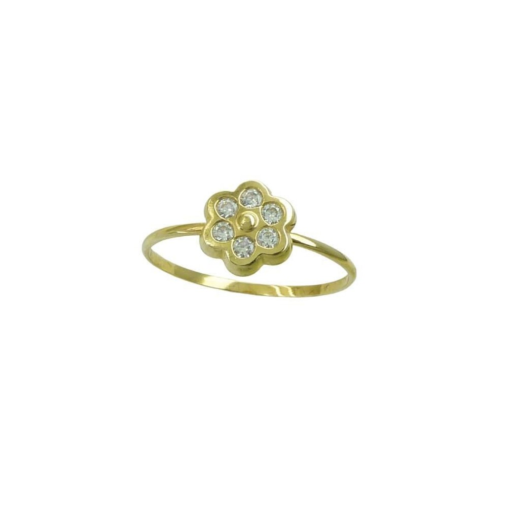 RR-00855 - Anillo de oro amarillo de...