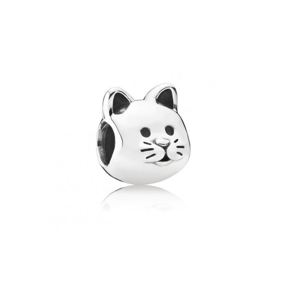 Charm de plata de ley de Pandora. Gato.