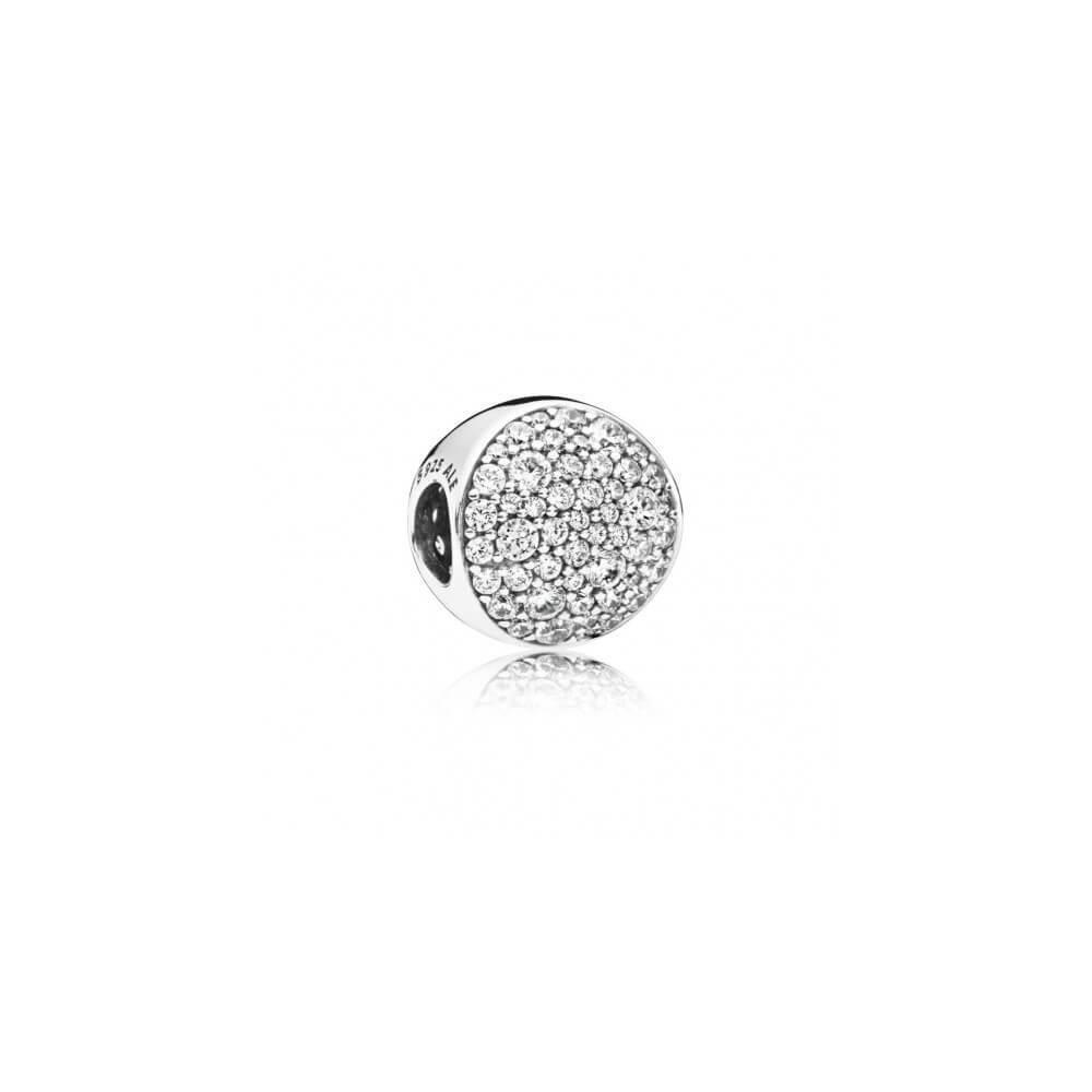 Charm PANDORA de plata Esfera en pavé