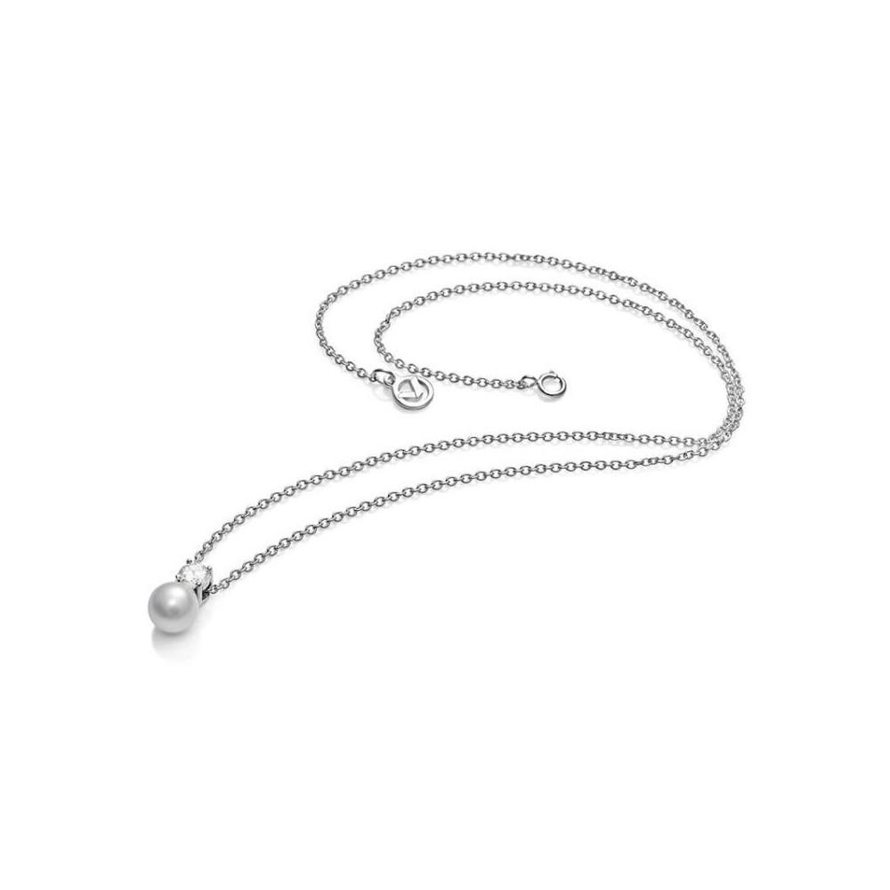 Colgante y cadena plata, perla y...