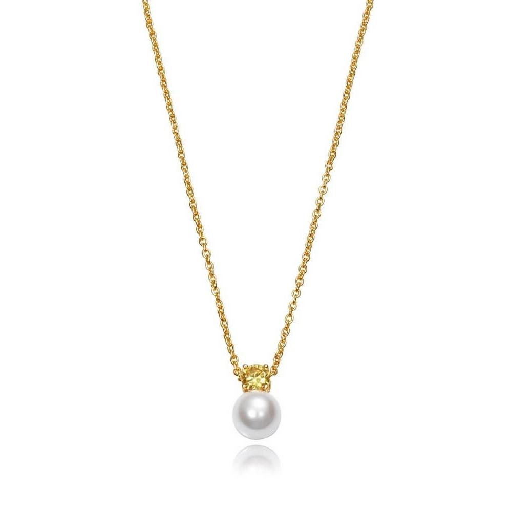 21017C100-33 - Collar de plata de ley...