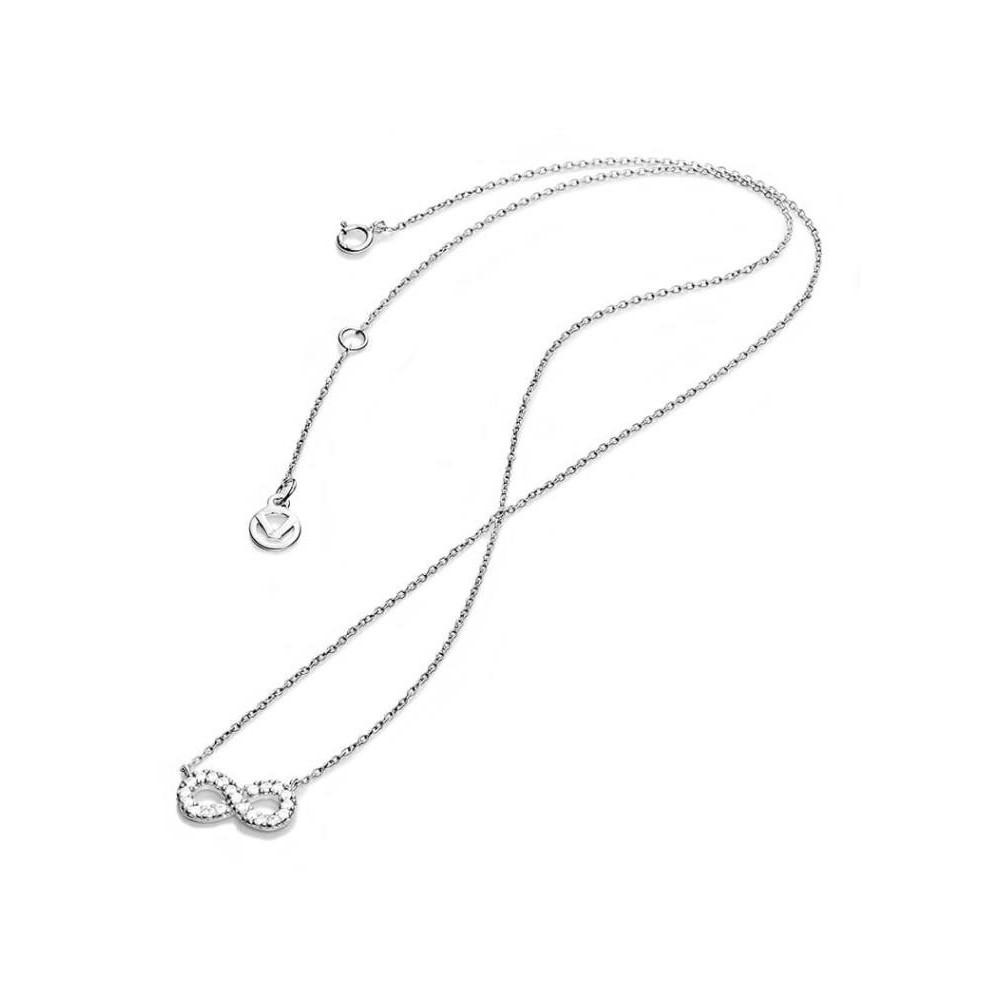 Collar de plata y circonitas para mujer