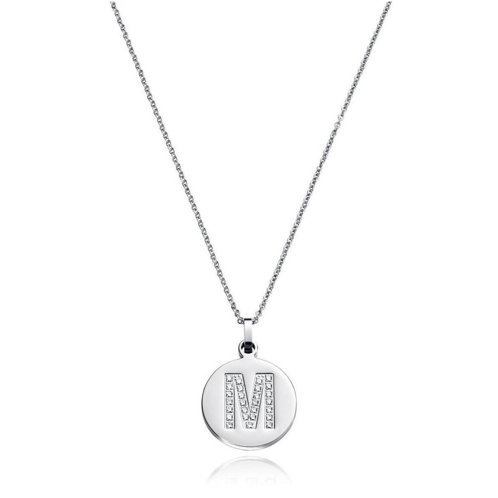 Cadena de acero con inicial letra M