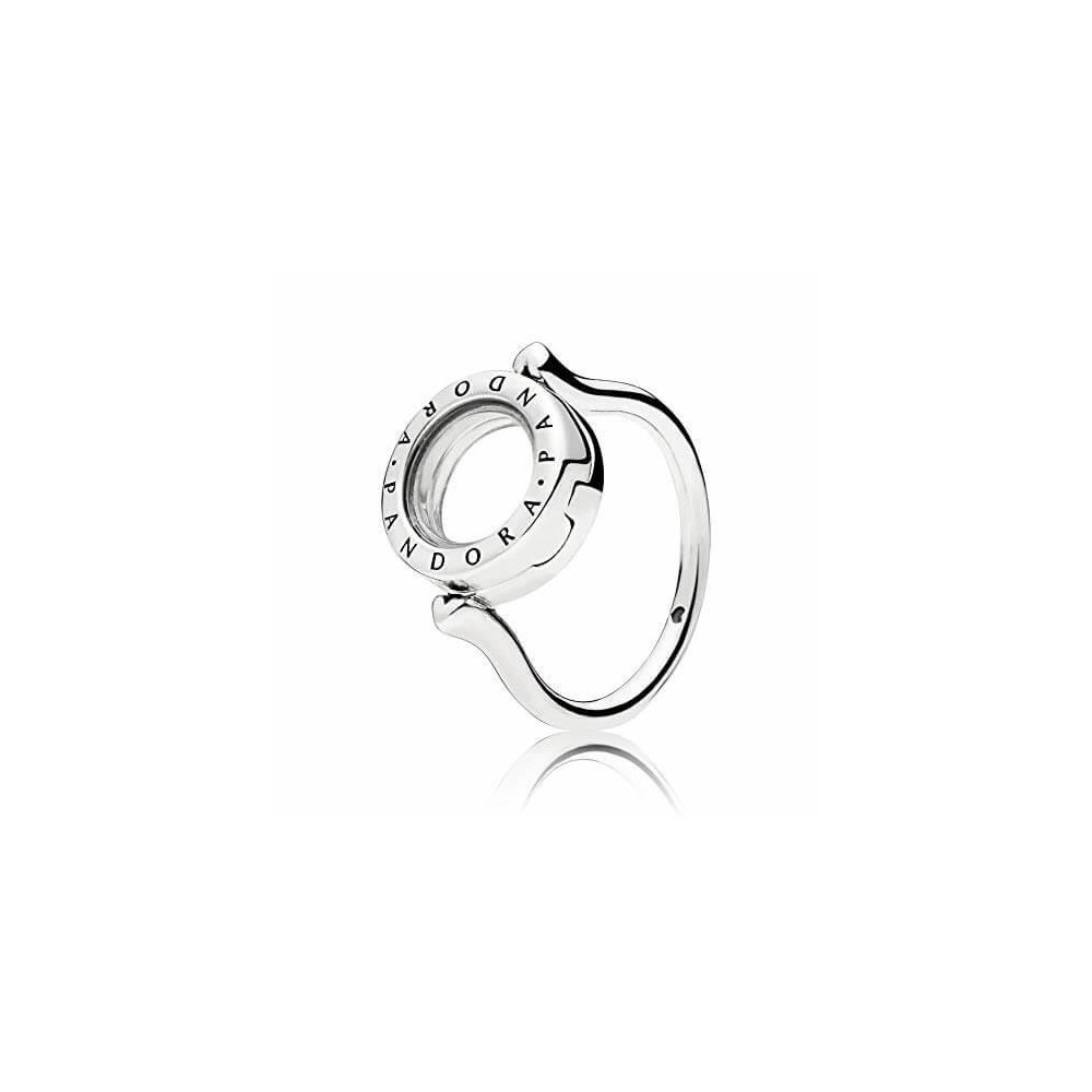 Anillo Locket Pandora con cristal...