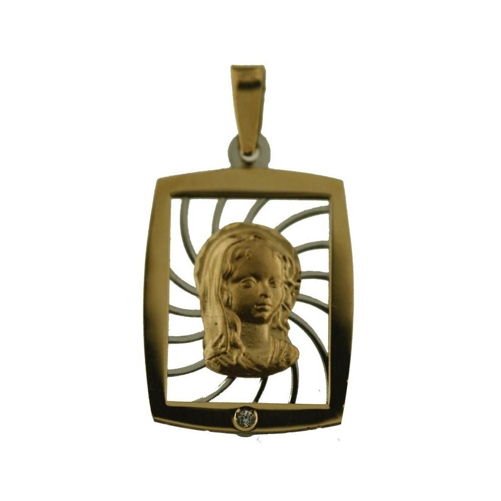 M-120793 - Medalla de oro rectangular