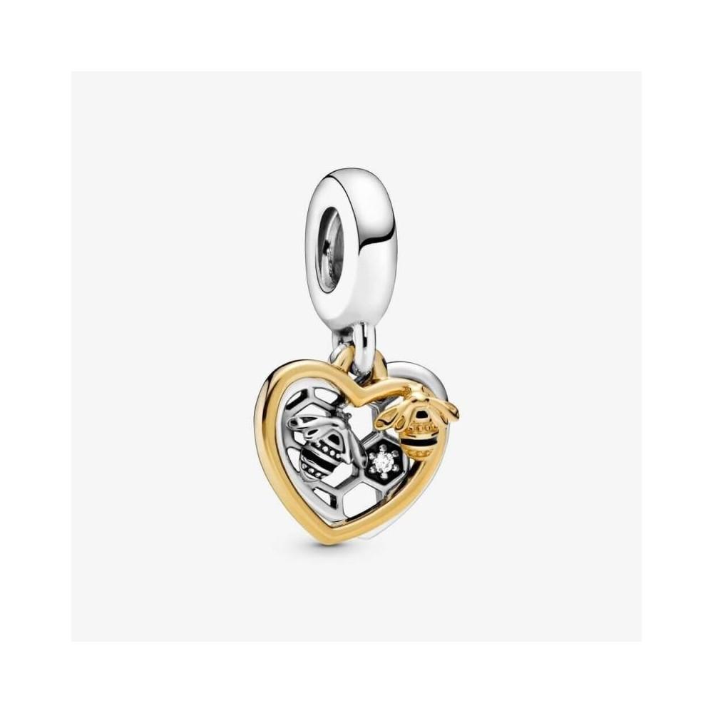 Charm Pandora coglante Corazón & Abejas