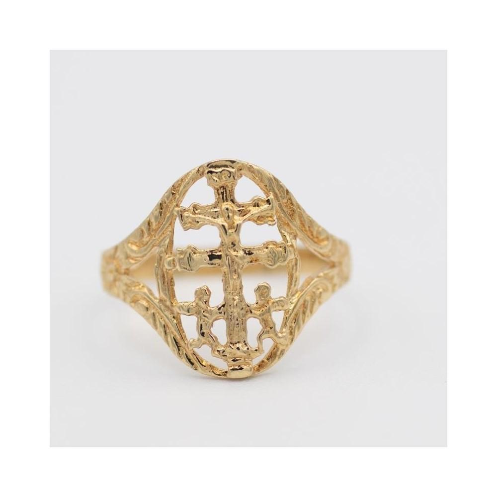 3C57 - Anillo de oro Cruz de Caravaca