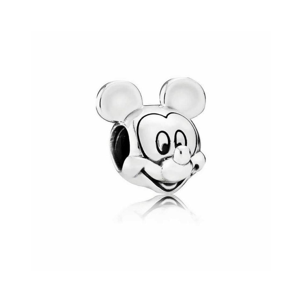 Charm Retrato de Mickey en plata de ley