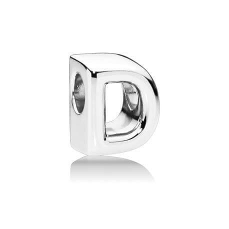 Charm Pandora de plata inicial letra d