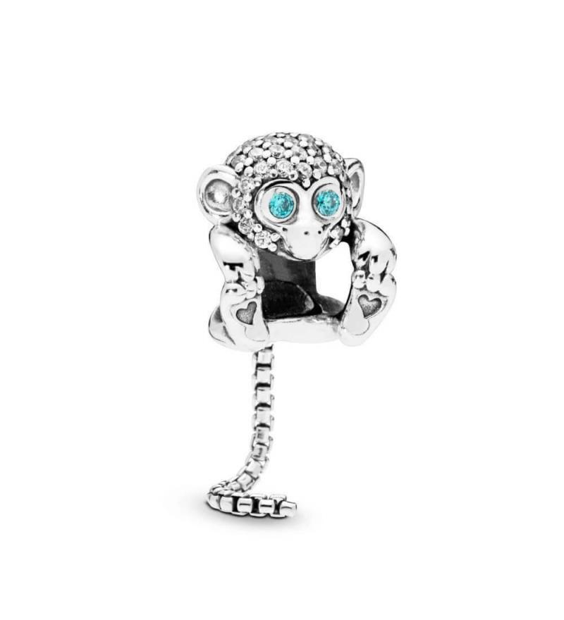 Charm Pandora Mono Brillante de plata con circonitas
