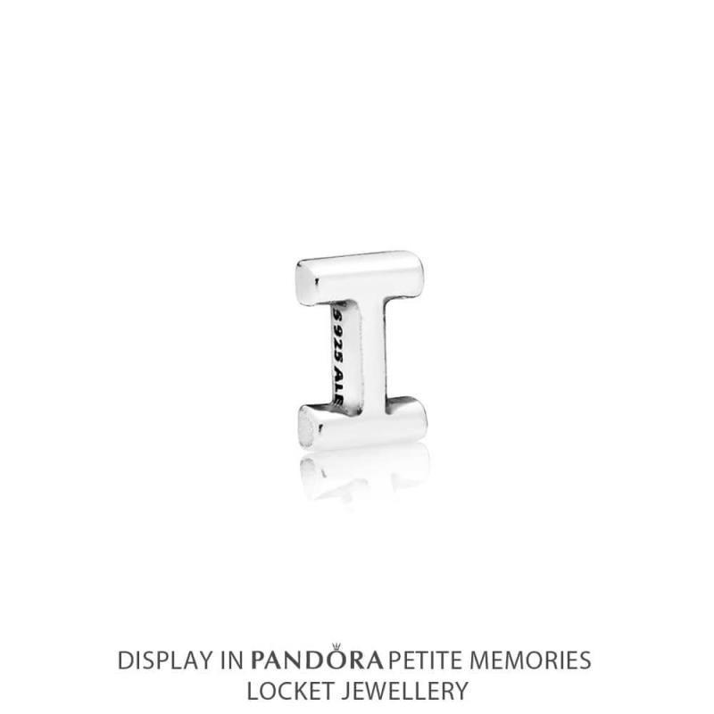Petite Memories plata de ley Pandora Letra I