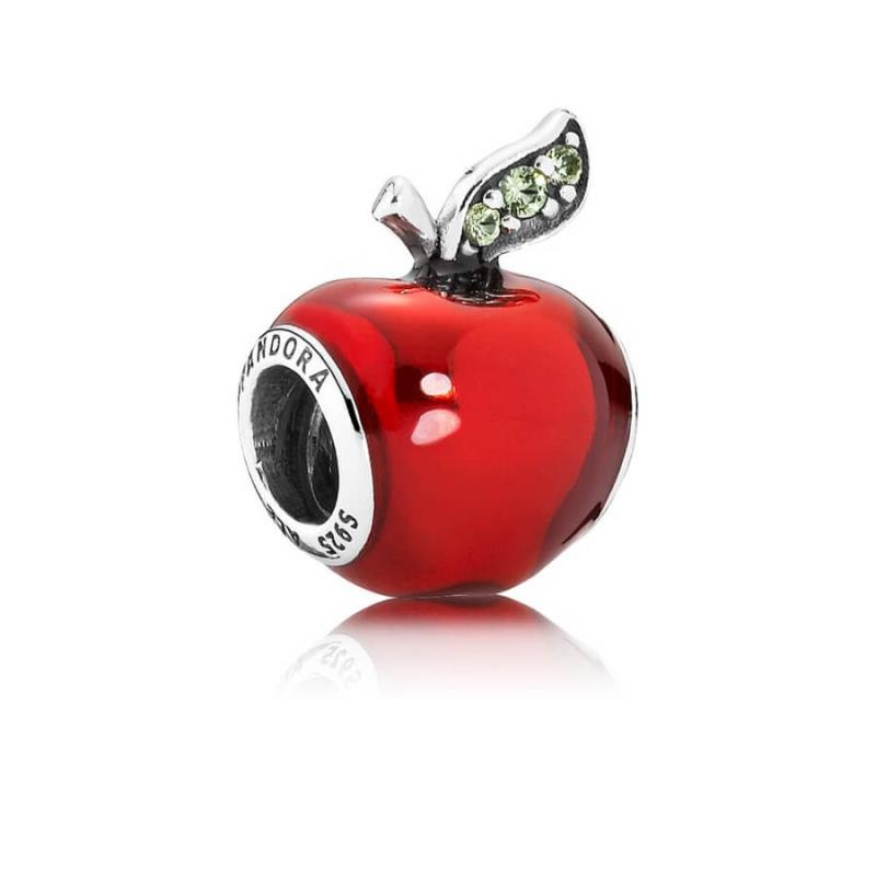 Charm Manzana de Blancanieves en plata de ley